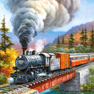 Castorland53216 Train Crossing 01 Legpuzzels