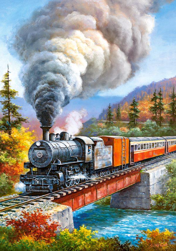 Castorland53216 Train Crossing 01 Legpuzzels