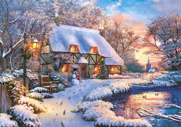 Castorland53278 Winter Cottage 01 Legpuzzels