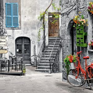 Castorland53339 Charming Alley With Red Bicycle 01 Legpuzzels