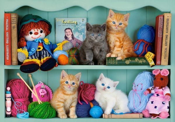 Castorland53377 Kitten Shelves 01 Legpuzzels