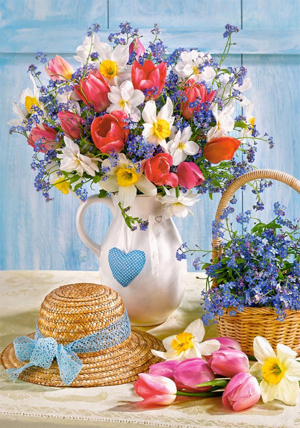 Castorland53520 Spring In Flower Pot 01 Legpuzzels