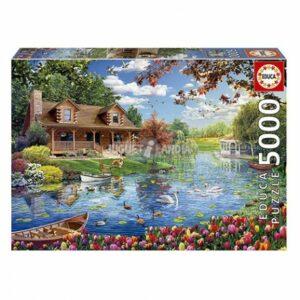 chalet aan het meer educa19056 legpuzzels.nl