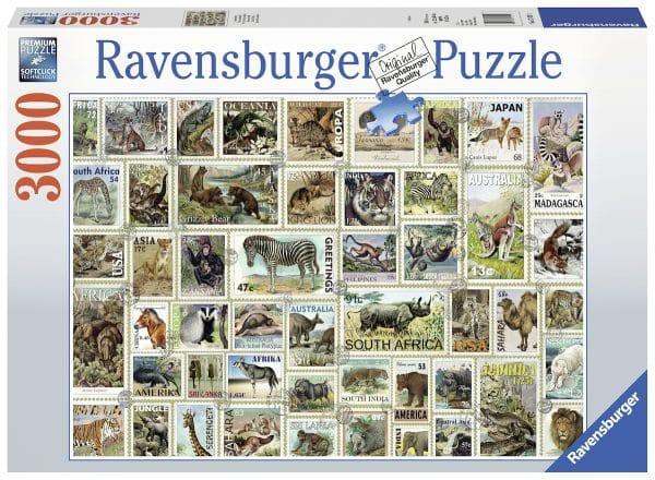 Dierenpostzegels Ravensburger170791 02 Legpuzzels.nl