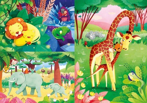 Dierenvriendjes Moeders Jungle Clementoni Kinderpuzzel