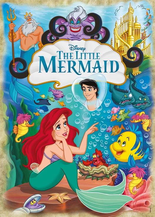 Disney Ariel, The Little Mermaid 30th Anniversary Jumbo18822 01 Legpuzzels.nl