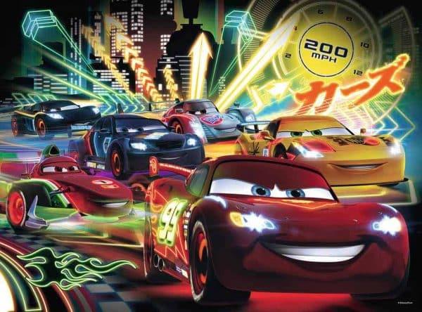 Disney Cars Neon Racers Ravensburger105205 01 Kinderpuzzels.nl .jpg