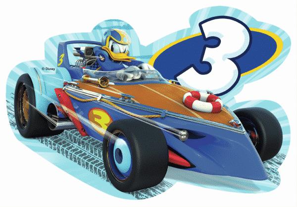 Disney Donald Roadster Racers Vloerpuzzel