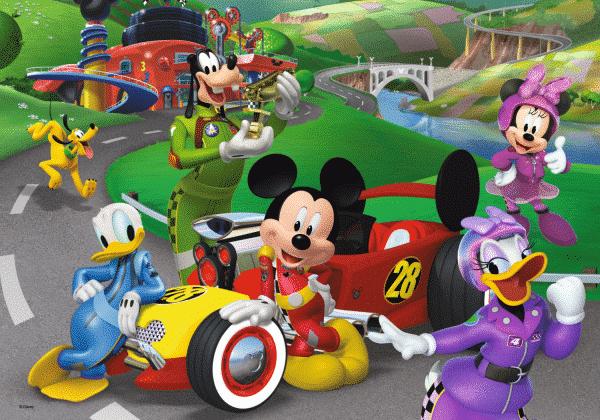 Disney Mickey Roadster Racers Kleurplaatpuzzel