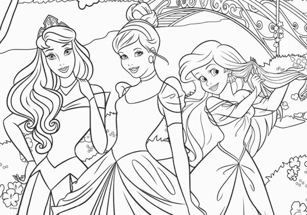 Disney Prinsessen Kleurplaatpuzzel Jumbo Kinderpuzzel