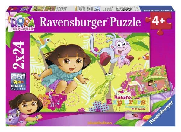 Dora Dora In De Jungle Ravensburger088775 01 Kinderpuzzels.nl .jpg