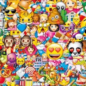 Emoji Aapje Hartjesogen Smiley