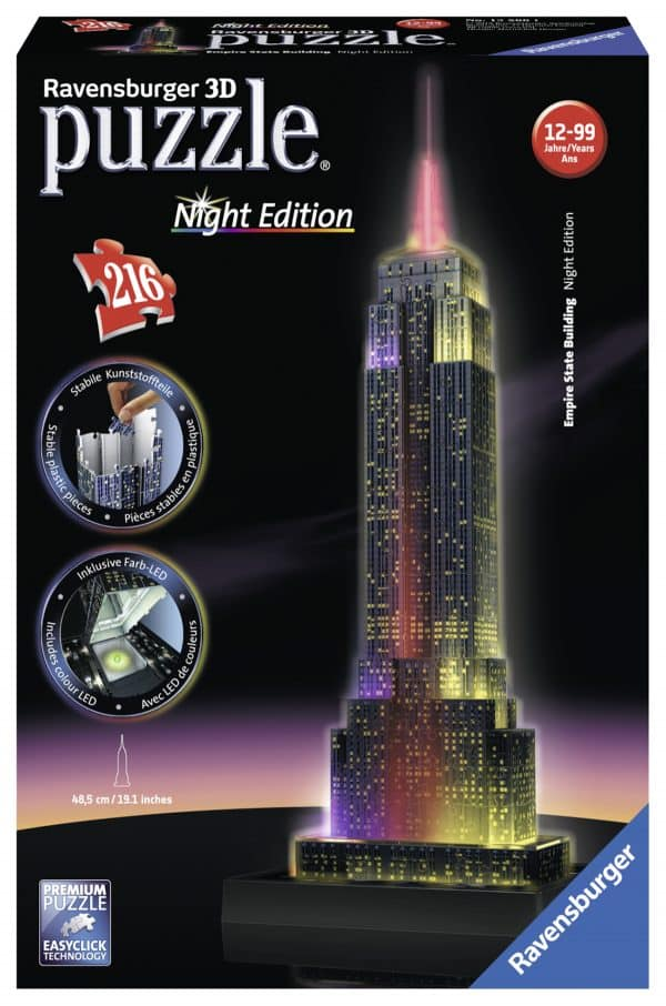 Empire State Building Night Edition Ravensburger125661 02 Legpuzzels.nl