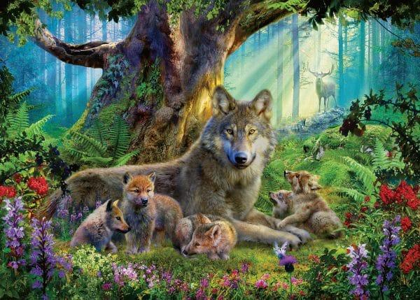 Familie Wolf In Het Bos Ravensburger159871 01 Legpuzzels.nl
