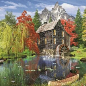 fishing by the mill 84550 art puzzel 1