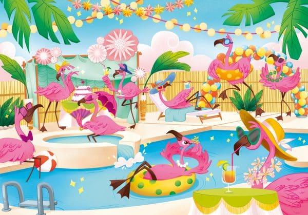 Flamingo Feestje Zwembad