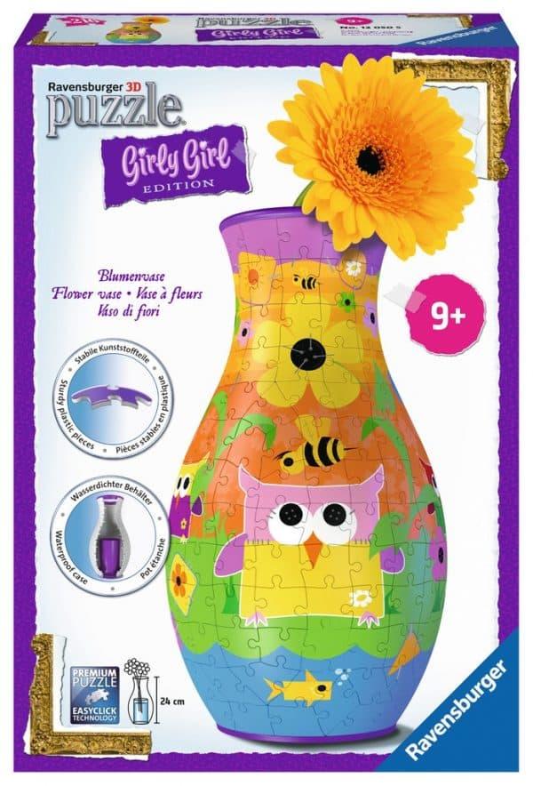 Girl Funky Owls Bloemenvaas Kinderpuzzel