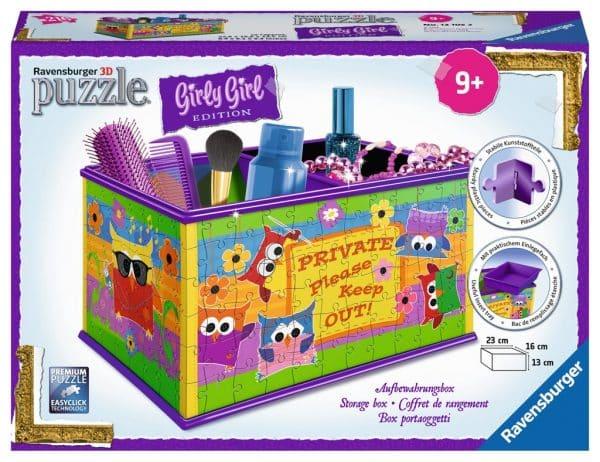 Girl Funky Owls Opbergdoos Ravensburger Kinderpuzzel