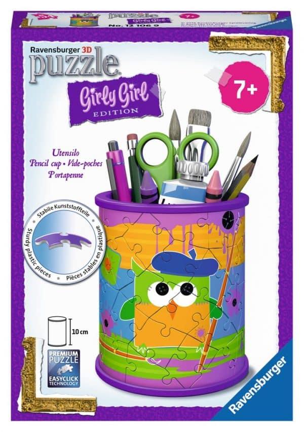 Girly Girl Funky Owls 3d Pennenbak Ravensburger121069 01 Kinderpuzzels.nl .jpg