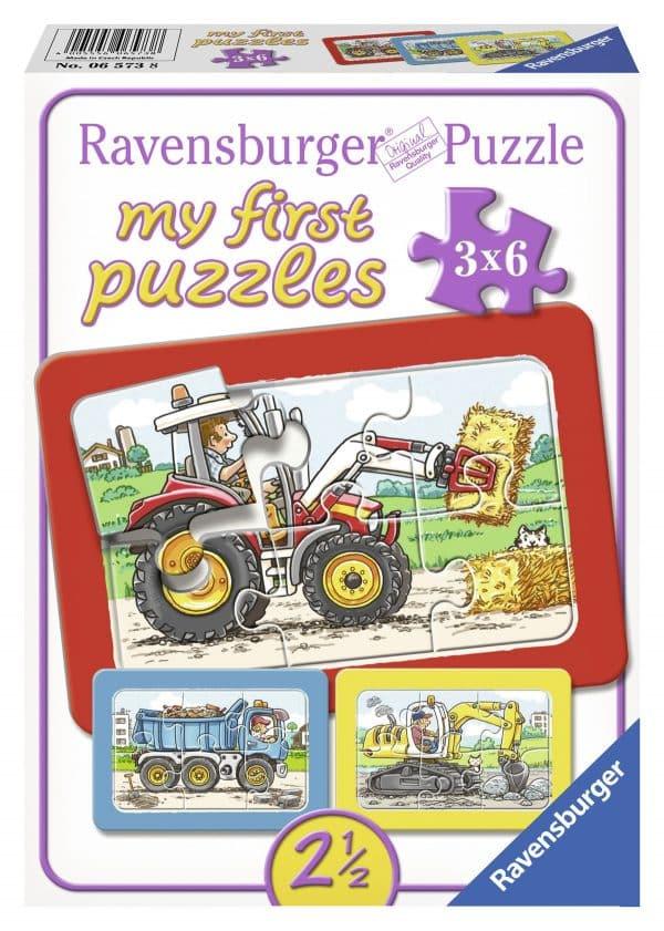 Graafmachine Tractor En Kiepauto Mijn Eerste Puzzel Ravensburger065738 01 Kinderpuzzels.nl .jpg