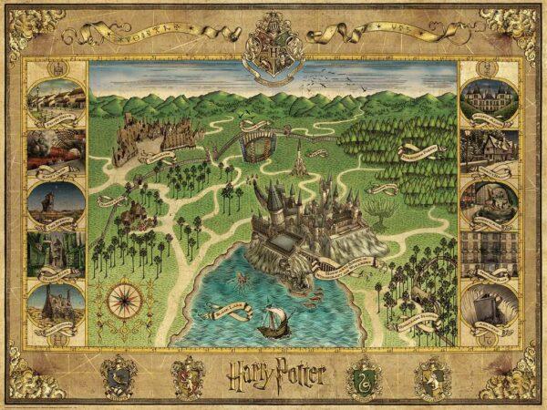 hogwarts map 16599 ravensburger 1