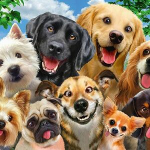 Honden Selfie Schmidt58390 01 Legpuzzels.nl