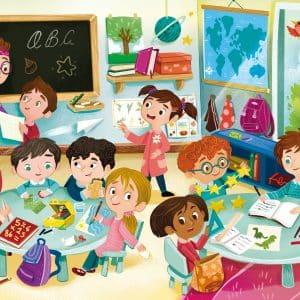 In Het Klaslokaal Juf School