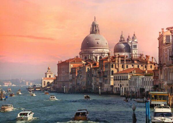 Italië Venetië Canal Grande Basiliek