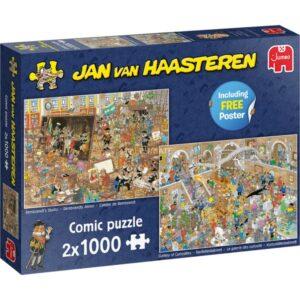 jan van haasteren een dagje naar het museum jumbo20052 en 20032 legpuzzels.nl