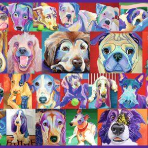 Kleurrijke Honden Legpuzzels
