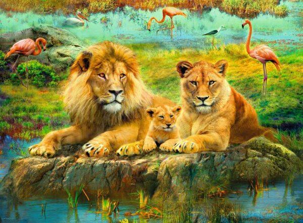 Leeuwen In De Savanne Legpuzzel