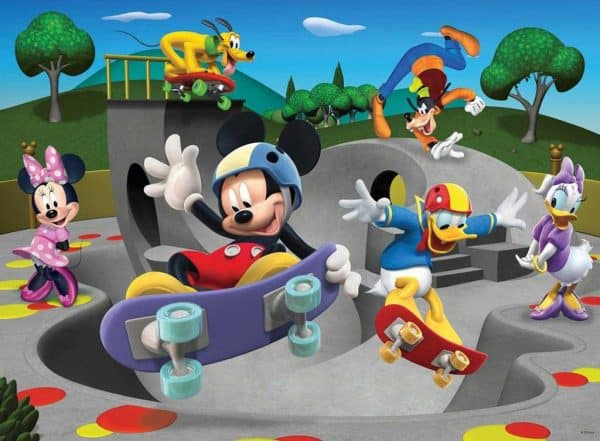Mickeys Vrolijke Skate Club Ravensburger108718 Kinderpuzzels.nl .jpg
