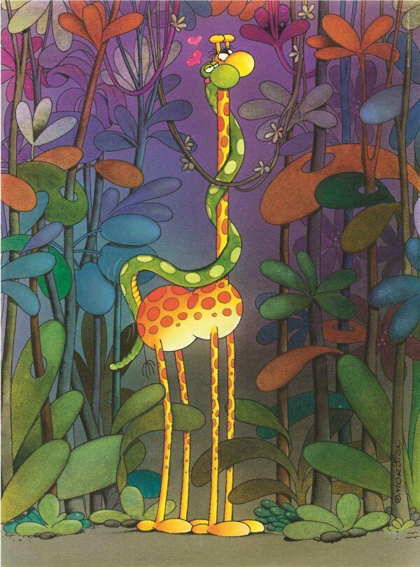 Mordillo The Lover Giraffe Clementoni
