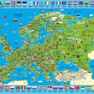 Ontdek Europa Schmidt Wereldkaart