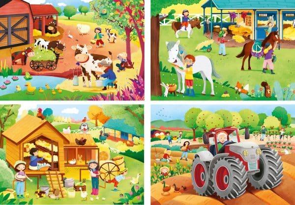 Tractor Koe Boerderij Clementoni Kinderpuzzel