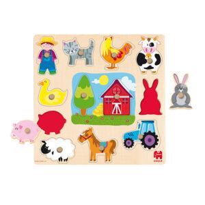 op de boerderij houten puzzel jumbo 53025 int 1