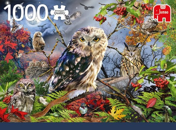 Owls In The Moonlight Jumbo18859 01 Legpuzzels.nl