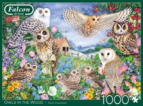 Owls In The Wood Jumbo11286 01 Legpuzzels.nl