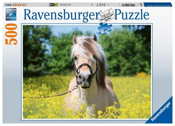 Paard Tussen De Bloemen Ravensburger150380 02 Legpuzzels.nl