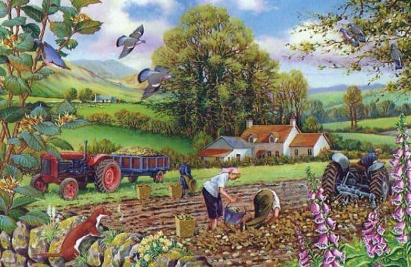 Potato Picking The House Of Puzzles Legpuzzel 5060002002032 1.jpg