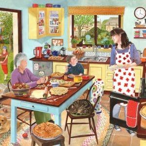 Puzzlestore Baking Apple Pie 1000 Stukjes Mc470 1.jpg