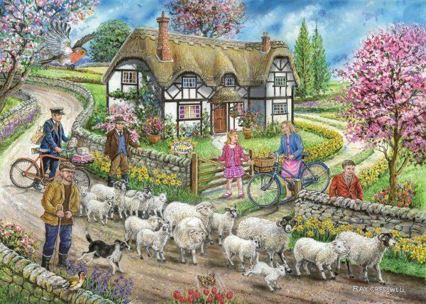 Puzzlestore Daffodil Cottage 1000 Stukjes Mc473 1.jpg