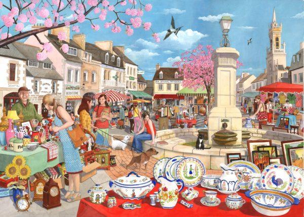 Puzzlestore French Market 1000 Stukjes Mc475 1.jpg