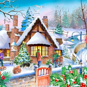 Puzzlestore Snowy Cottage 250xl Stukjes Mc490 1.jpg