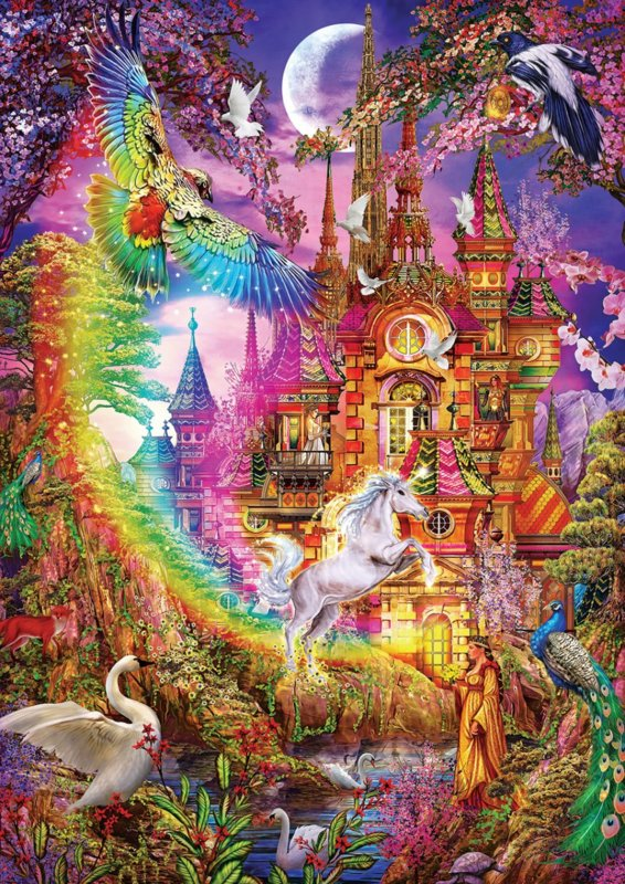 rainbow castle 5075 art puzzel 1