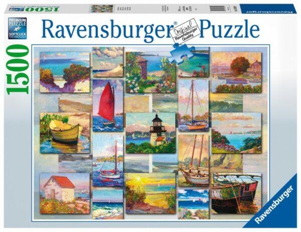 Ravensburger Puzzel Coastal Collage Legpuzzel 1500 Stukjes