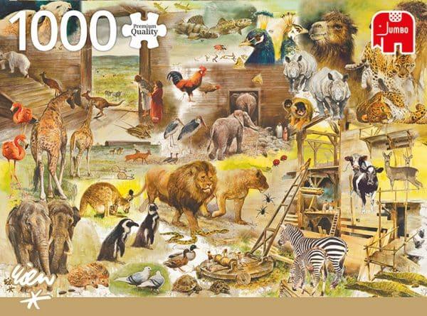 Rien Poortvliet De Constructie Van De Ark Van Noach Jumbo18854 01 Legpuzzels.nl