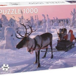 Kerstman Slee Rendier Sneeuw