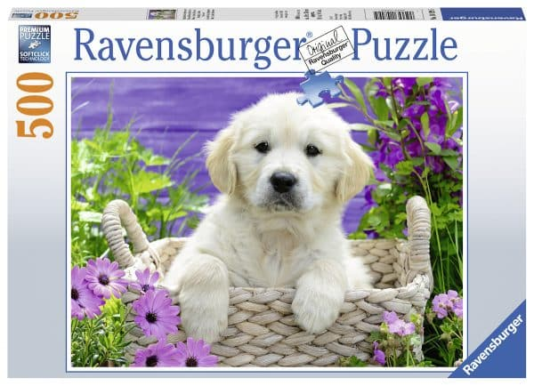 Schattige Golden Retriever Ravensburger148295 02 Legpuzzels.nl
