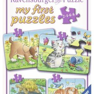 Schattige Huisdieren Mijn Eerste Puzzel 4 In 1 Ravensburger069514 01 Kinderpuzzels.nl .jpg